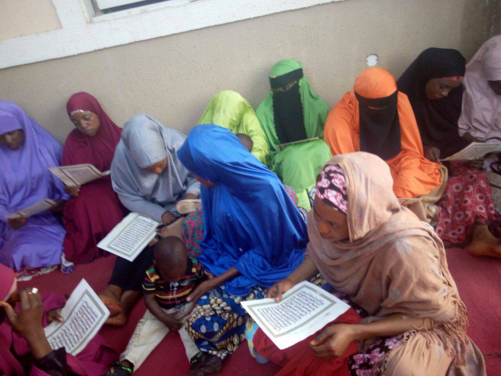 Women praying for Buhari