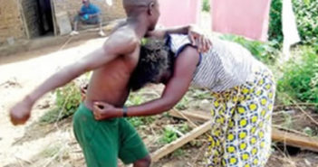 Man fighting Woman