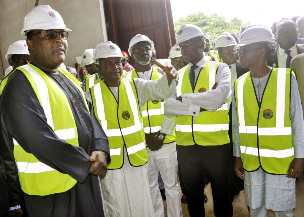 Pic.9. From left: Executive secretary, Nigerian Shippers Council, Mr Hassan Bello; director of Inland Dry Port, Mr Smail Yusuf; chairman of Kaduna Inland Dry Port Limited, Mr Tope Borishade; Minister of Transportation, Mr Chibuike Amaechi; and Gov. Nasiru El-Rufai of Kaduna State, during the inspection of Kaduna Inland Dry Port, in Kaduna on Tuesday (20/6/17) 03385/20/6/2017/Albert Otu/BJO/NAN
