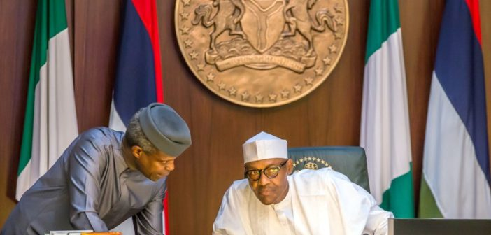 President Buhari and Osinbajo