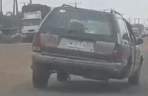 Car with three leg