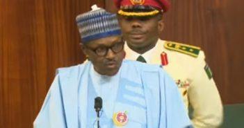 Buhari presenting Budget