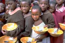Hunger, begging children