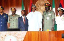 Service chiefs and Buhari