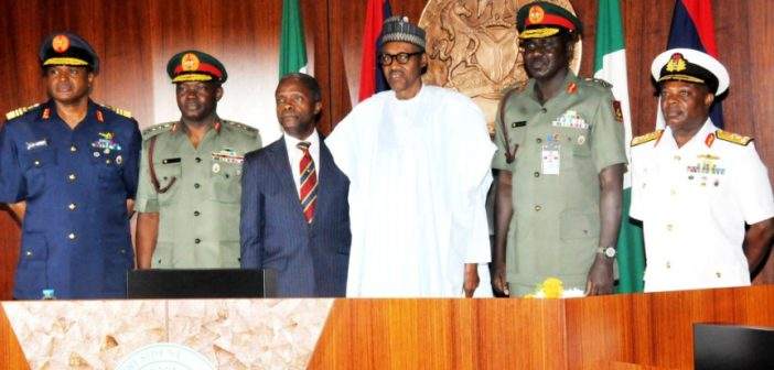 Service chiefs and Buhari