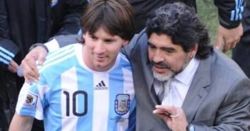 Messi With Maradona