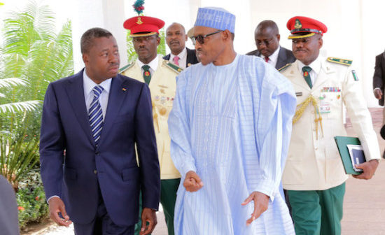 Buhari in Togo