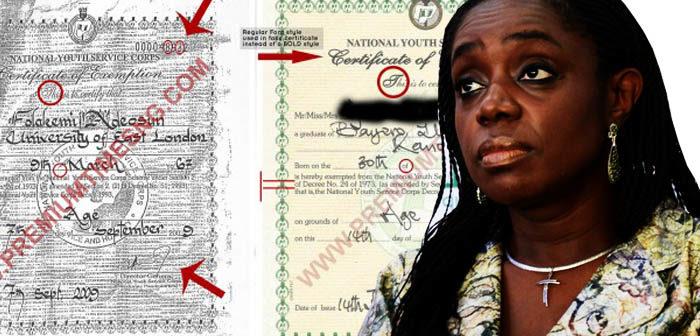 Kemi Adeosun Certificate