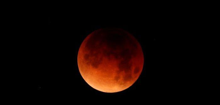 A lunar eclipse