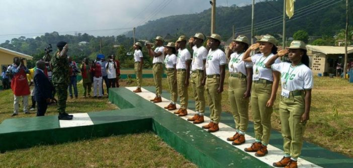 NYSC DG salutes guard of honor