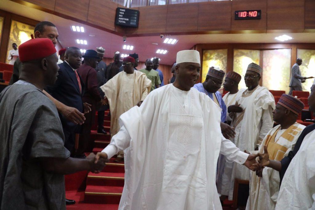 Saraki in the Senate