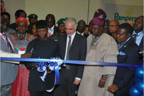 Osinbajo Commissioning Procter And Gamble