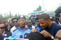Moshood Jimoh and Protesters