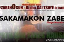 Sakamakon Zabe daga mazabu