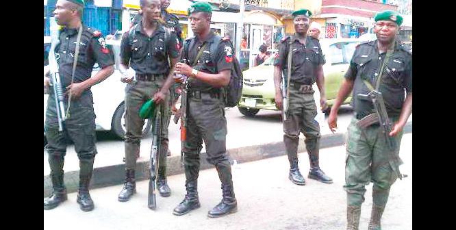 Policemen-on-duty
