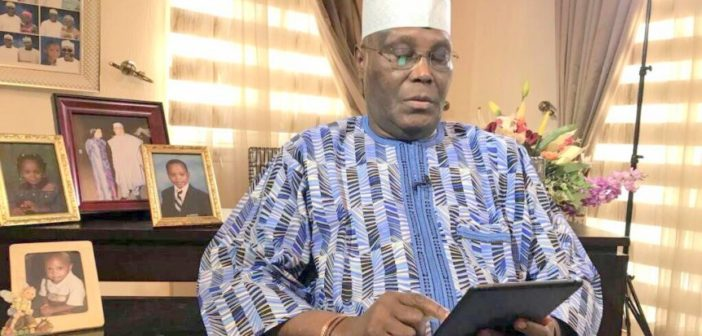 Atiku with Tablet