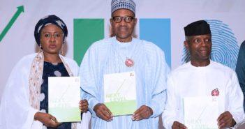 Buhari and Wife, Osinbajo