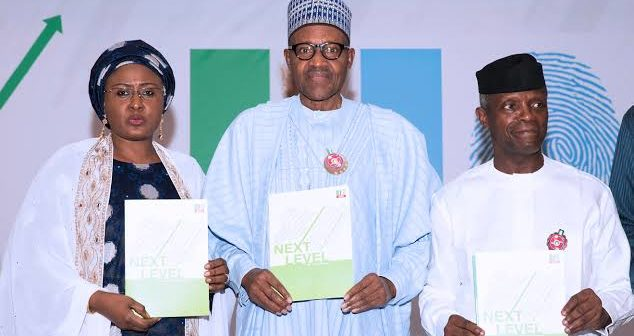 Buhari and Wife, Osinbajo