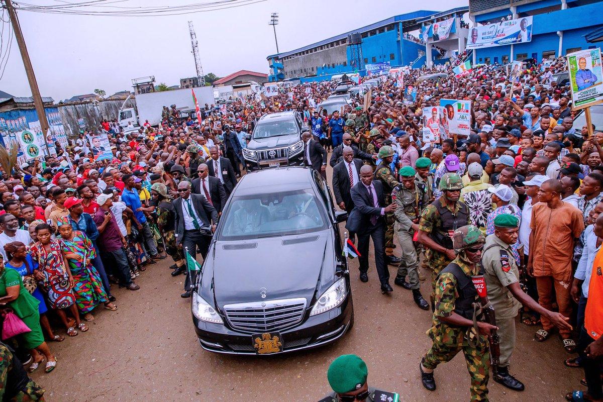 Buhari in Abia State