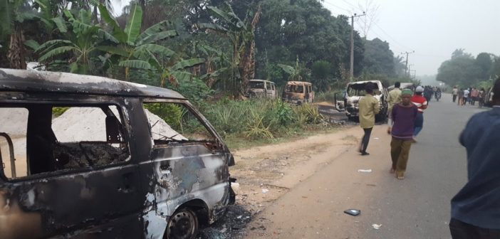 Burnt INEC Cars