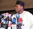 Independent National Electoral Commission (INEC) Chairman, Prof. Mahmood Yakubu, addressing a stakeholders meeting on 2019 General Elections' postponement, in Abuja on Saturday (16/2/19).