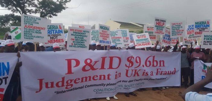 Abuja protest UK