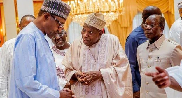 Buhari and Ganduje Aso rock