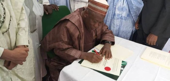 Ganduje Signs Bill