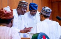 Buhari and Ahmed Lawan