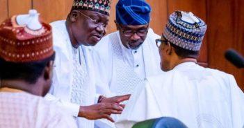 Buhari and Ahmed Lawan