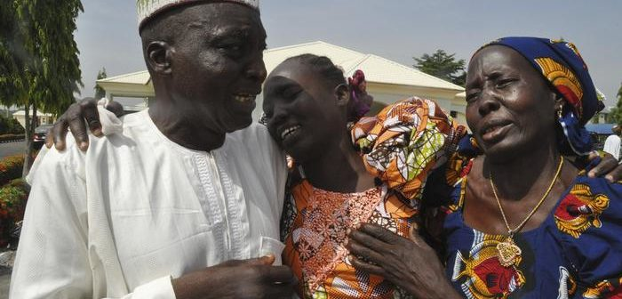Tears of Joy from parents of released Chibok girls