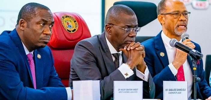 Sanwo Olu and Abayomi, commissioner of health
